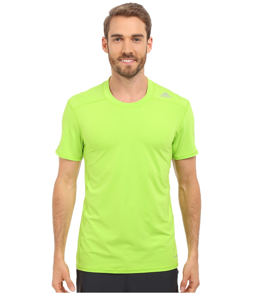 adidas - Techfit Fitted Short Sleeve Tee (Core Heather) Men's T Shirt