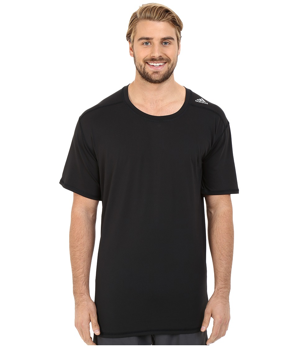 adidas - Techfit Fitted Short Sleeve Tee (Black) Men's T Shirt