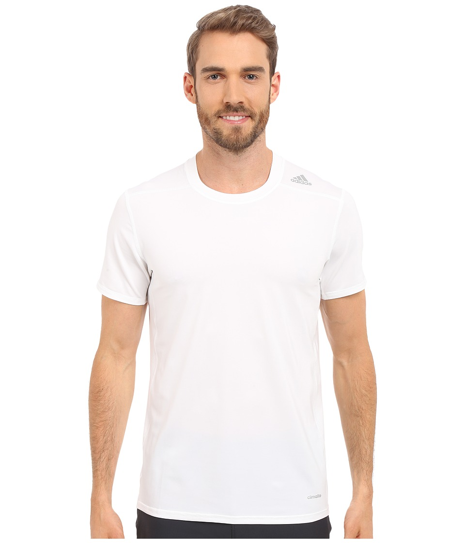 adidas - Techfit Fitted Short Sleeve Tee (White) Men's T Shirt