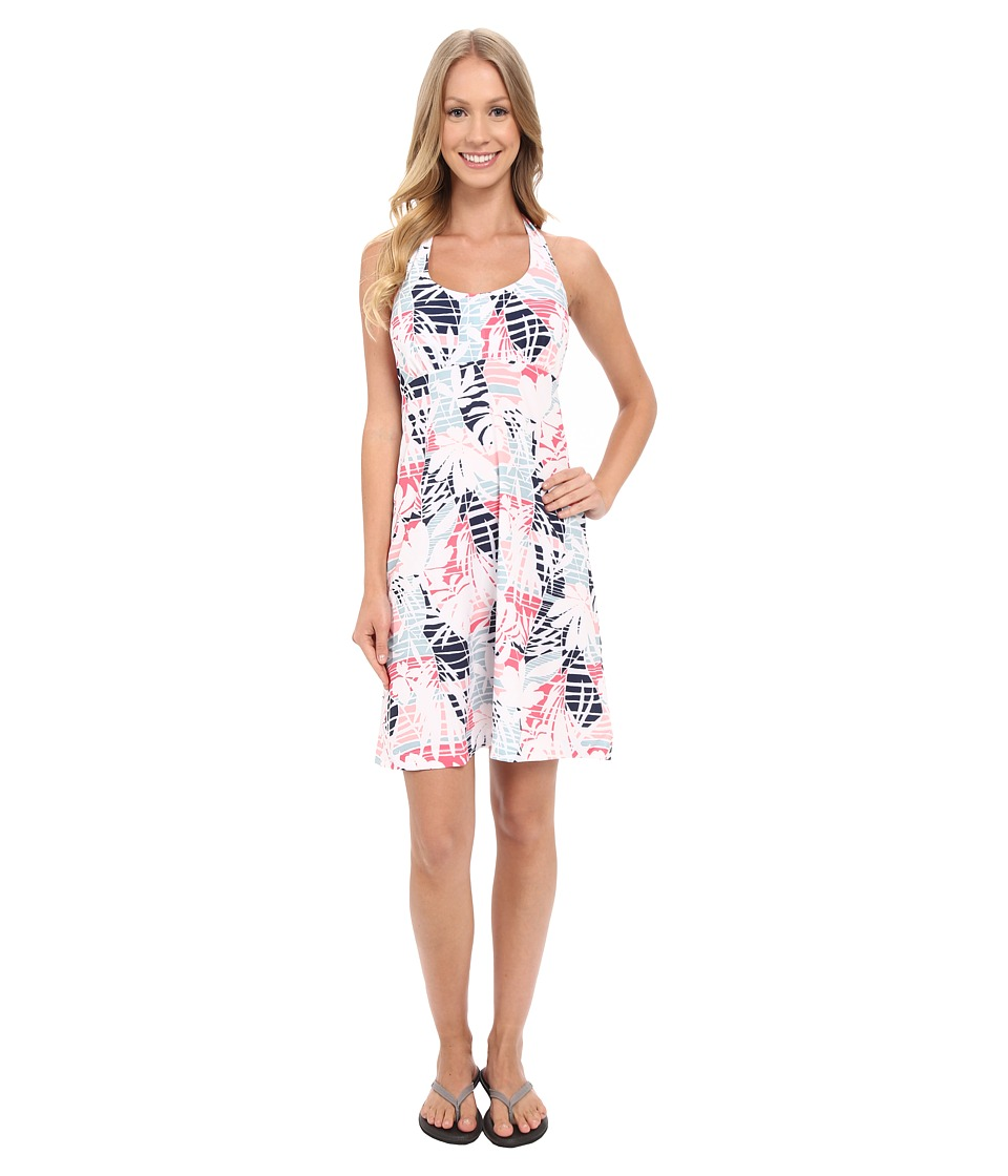 Columbia - Armadale Halter Top Dress (Bright Geranium Palm Print) Women's Dress