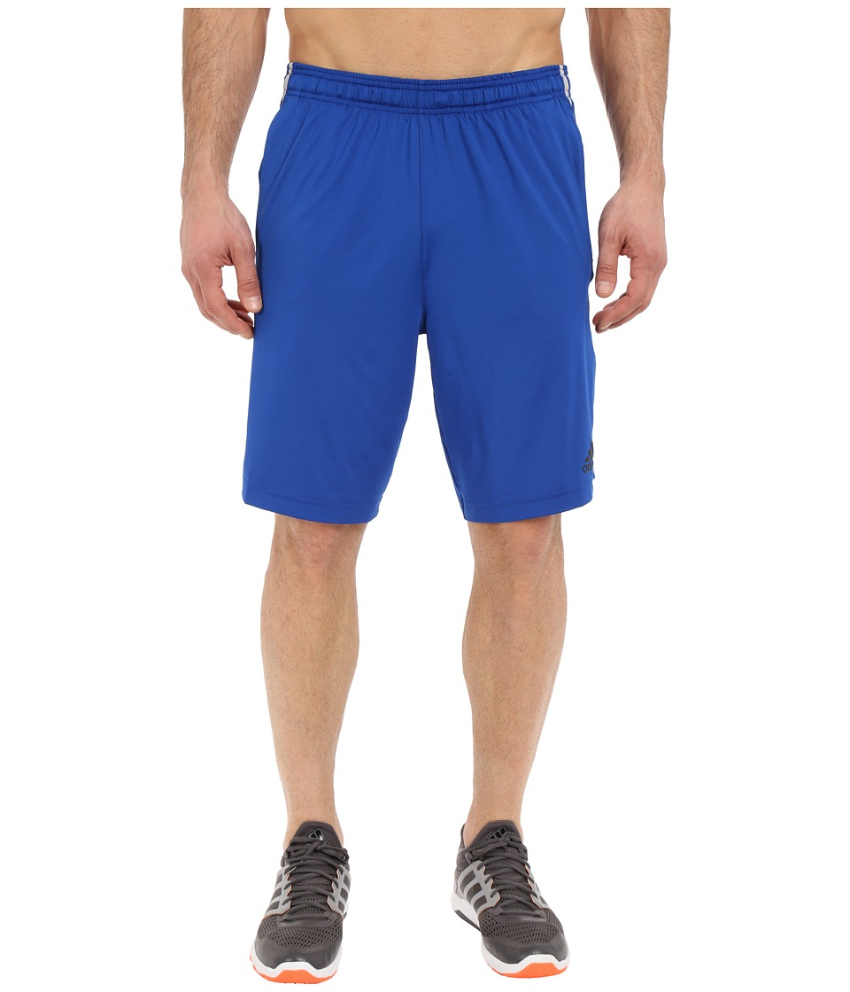 adidas Team Issue 3 Stripes Shorts- Solid (Collegiate Royal/Light Grey Heather) Men