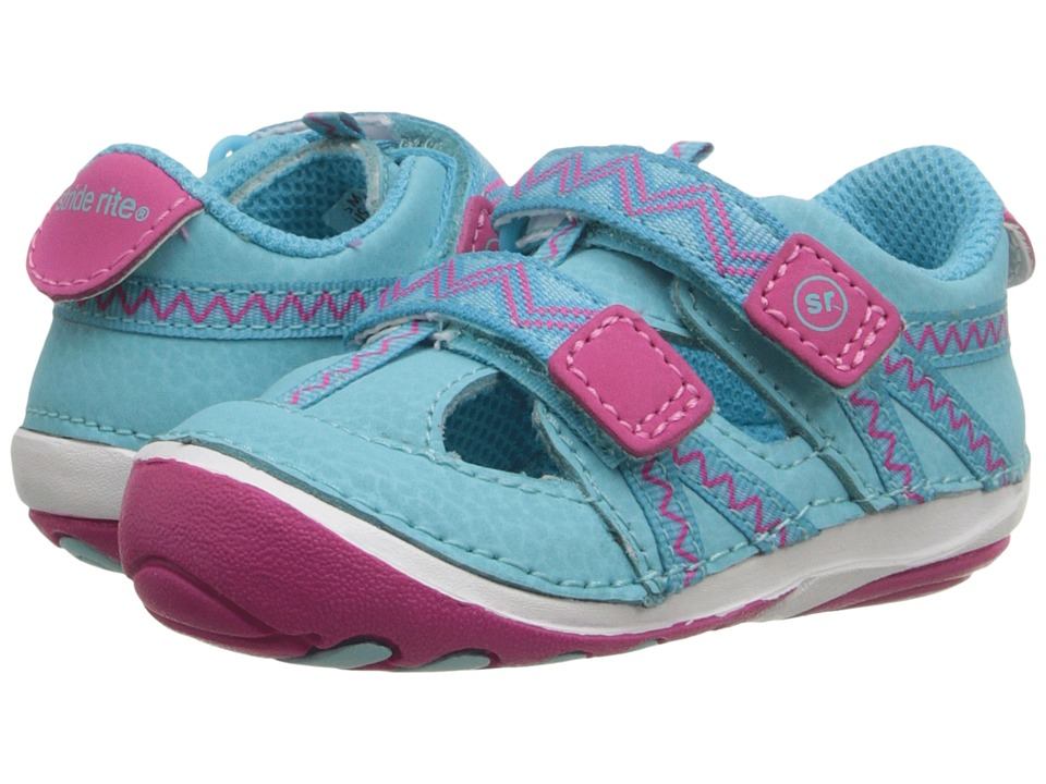 Stride Rite - SM Michaela (Infant/Toddler) (Turquoise/Pink) Girls Shoes