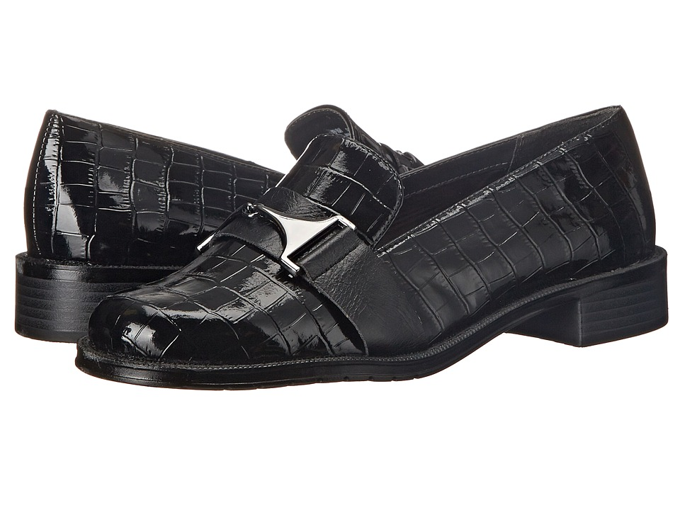 A2 by Aerosoles Sleigh Ride (Black Croco) Women