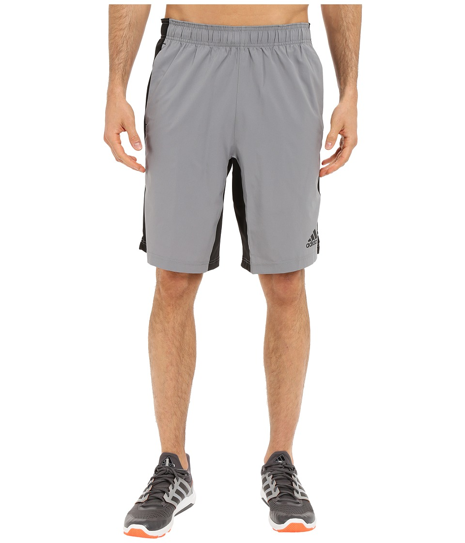 adidas - Team Issue Woven Shorts (Grey/Black) Men's Shorts