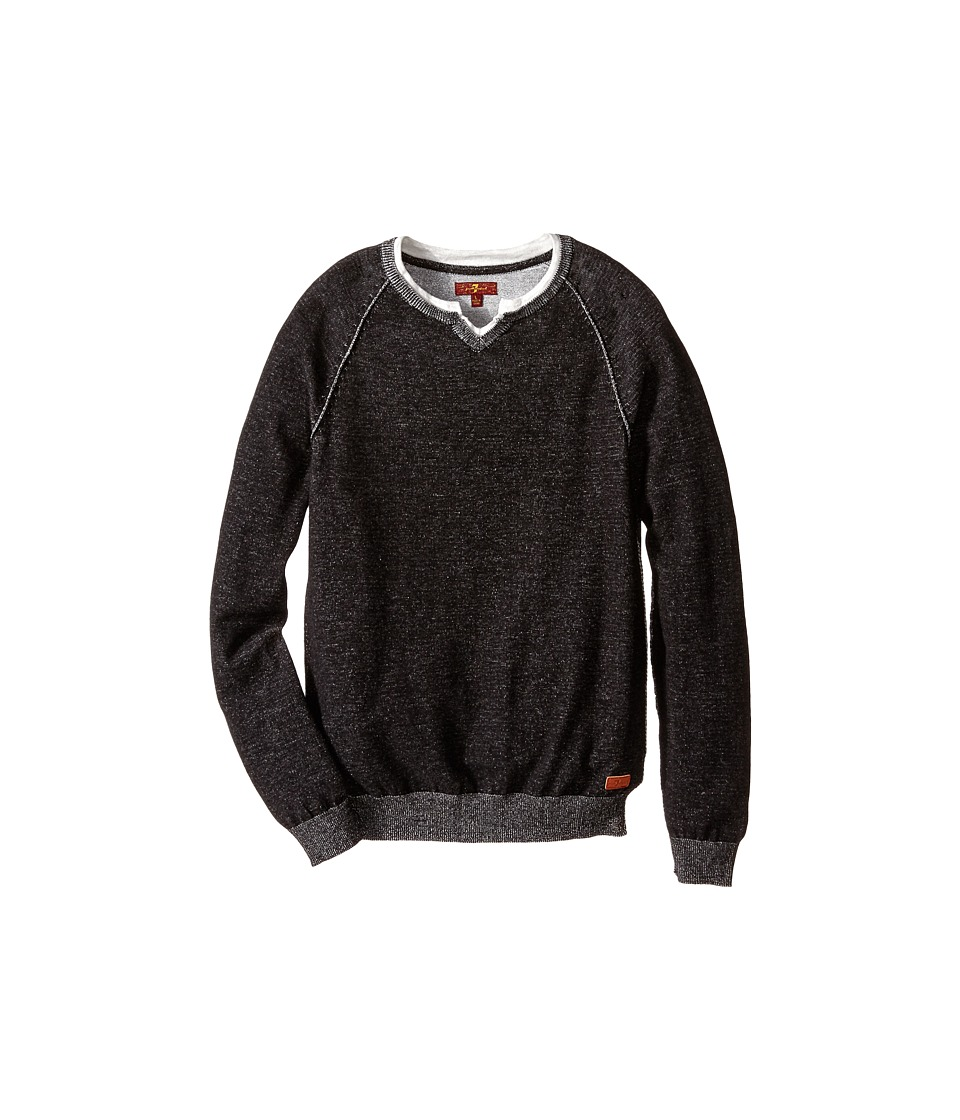 7 For All Mankind Kids - Sweater (Big Kids) (Heather Black) Boy