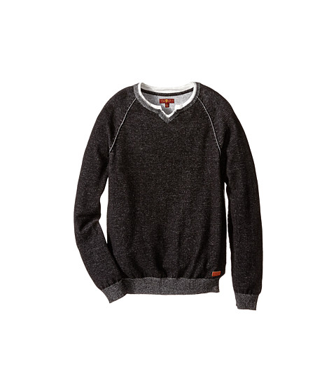 7 For All Mankind Kids - Sweater (Big Kids) (Heather Black) Boy's Sweater