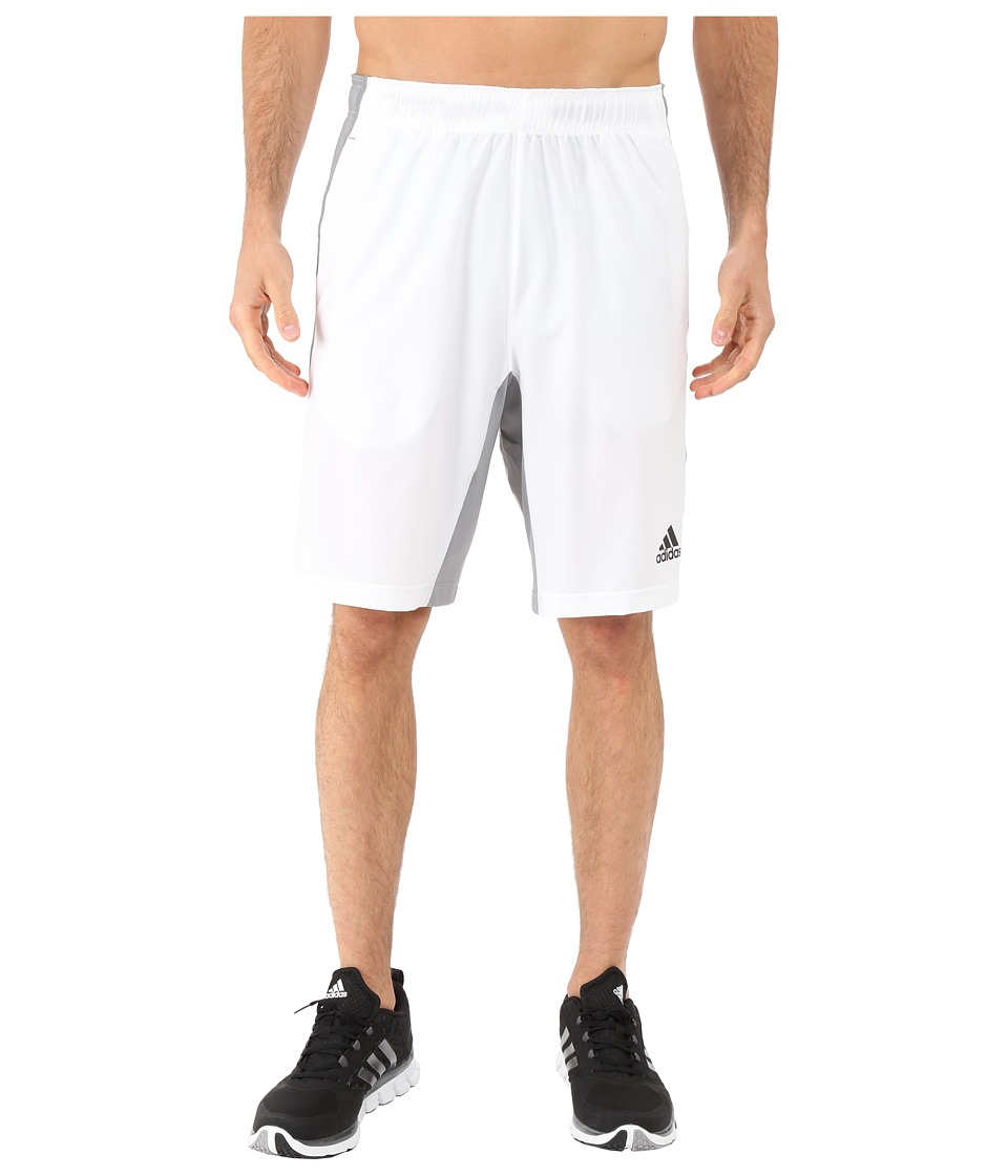 adidas - Team Issue Woven Shorts (White/Grey) Men's Shorts