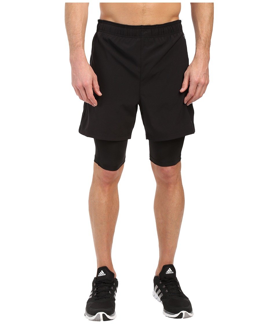 adidas - Team Issue 2-In-1 Shorts (Black/Black) Men's Shorts
