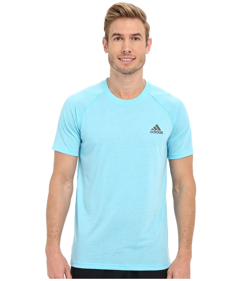 adidas - Ultimate S/S Crew Tee (Blue Glow/DGH Solid Grey) Men