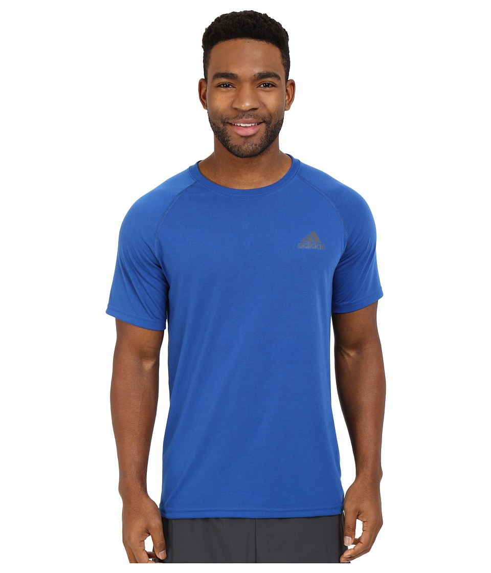 adidas - Ultimate S/S Crew Tee (EQT Blue/DGH Solid Grey) Men's T Shirt