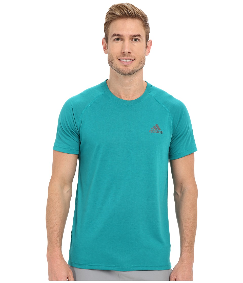 adidas - Ultimate S/S Crew Tee (EQT Green/DGH Solid Grey) Men