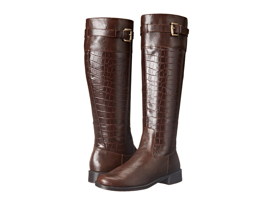 A2 by Aerosoles - High Ride (Brown Croco) Women's Boots