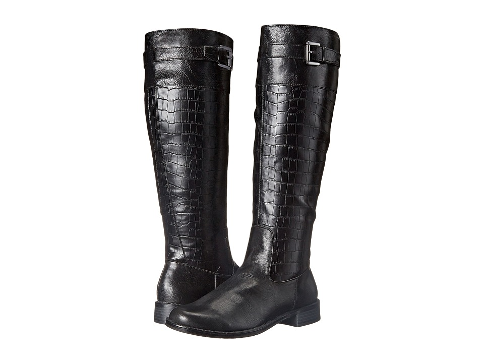 A2 by Aerosoles - High Ride (Black Croco) Women's Boots