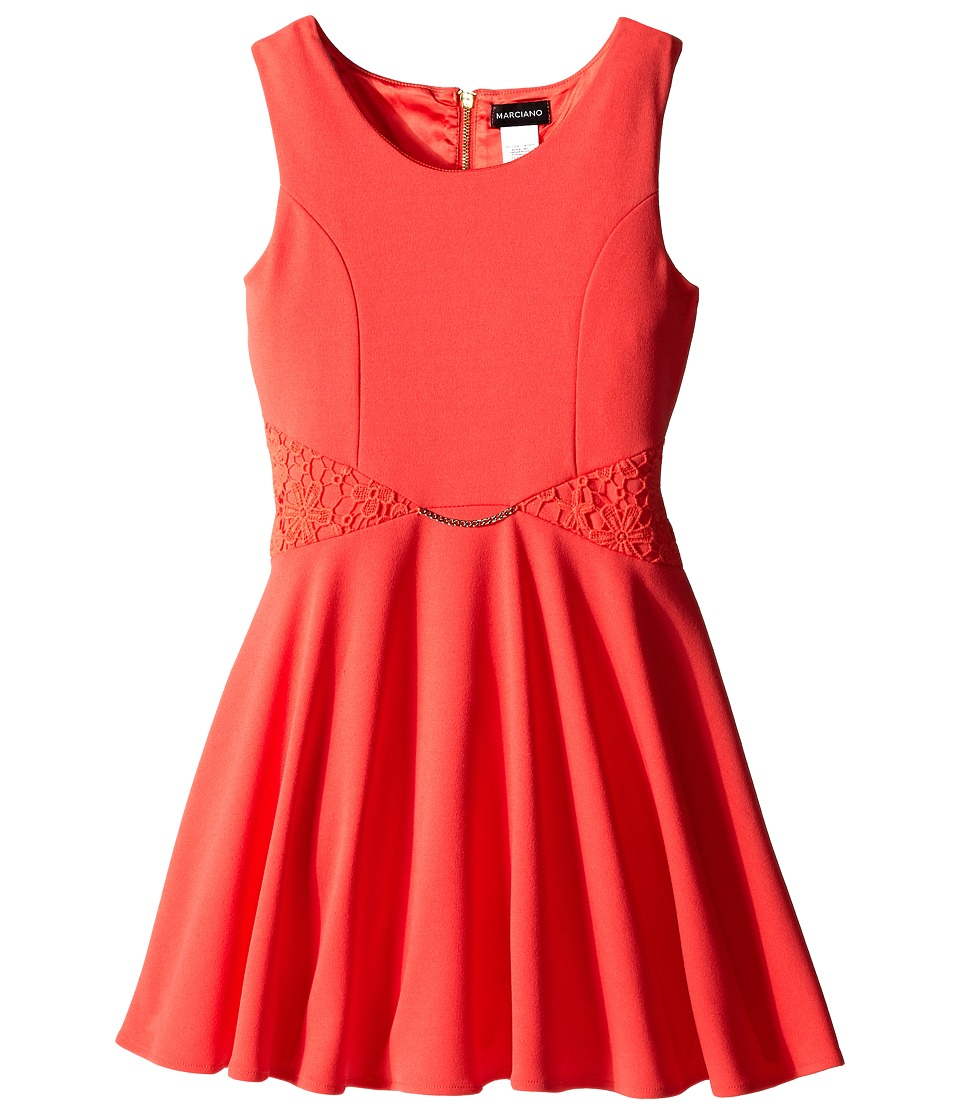 Marciano Kids - Dalla Twist Chiffon Dress (Big Kids) (Coral) Girl's Dress