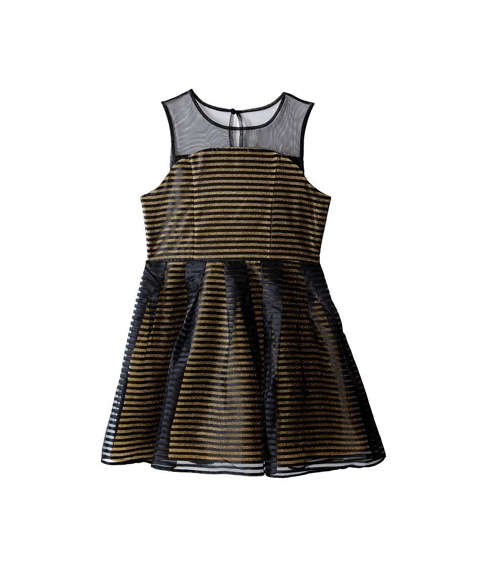 Marciano Kids - Metallic Fit and Flare Dress (Big Kids) (Black) Girl's Dress