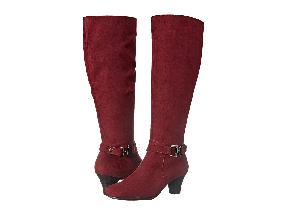 Aerosoles - Pariwinkle (Wine Fabric) Women's Zip Boots