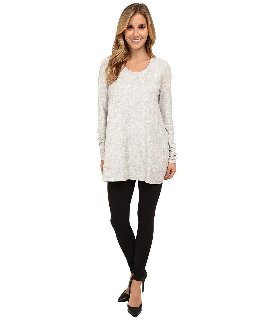 Lysse - Scoop Drape Top (Silver Heather) Women's Long Sleeve Pullover