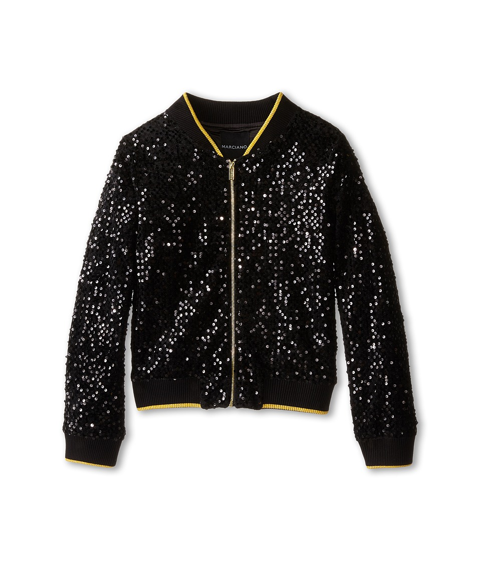 Marciano Kids - Sequin Jacket (Big Kids) (Black) Girl's Coat