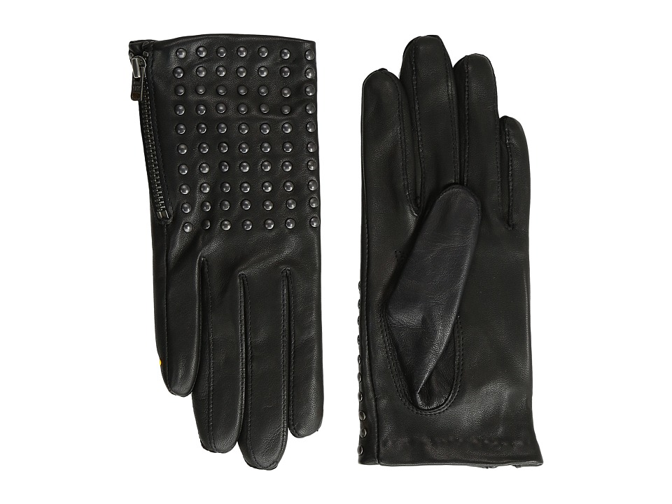 The Kooples - Leather Gloves with Studs (Black) Extreme Cold Weather Gloves
