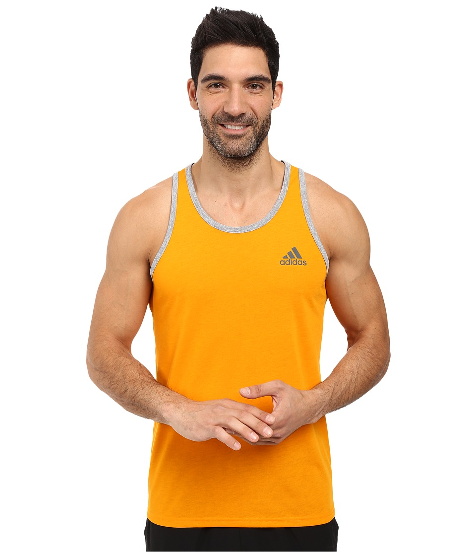 adidas - Ultimate Tank (EQT Orange/Medium Grey Heather/DGH Solid Grey) Men's Sleeveless