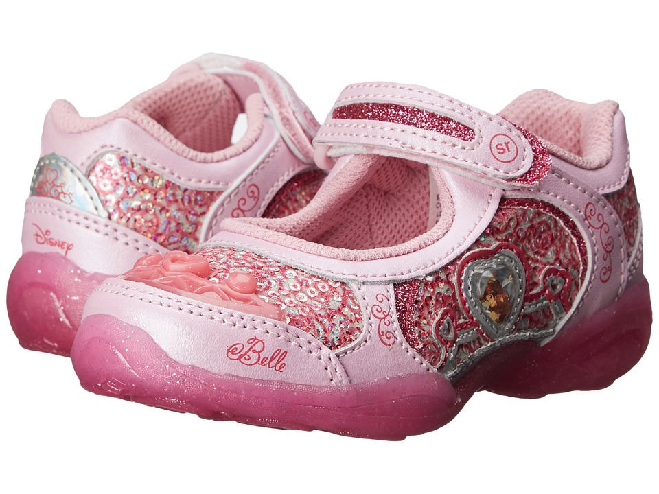 Stride Rite - Disney Belle Lighted MJ (Toddler/Little Kid) (Light Pink) Girls Shoes
