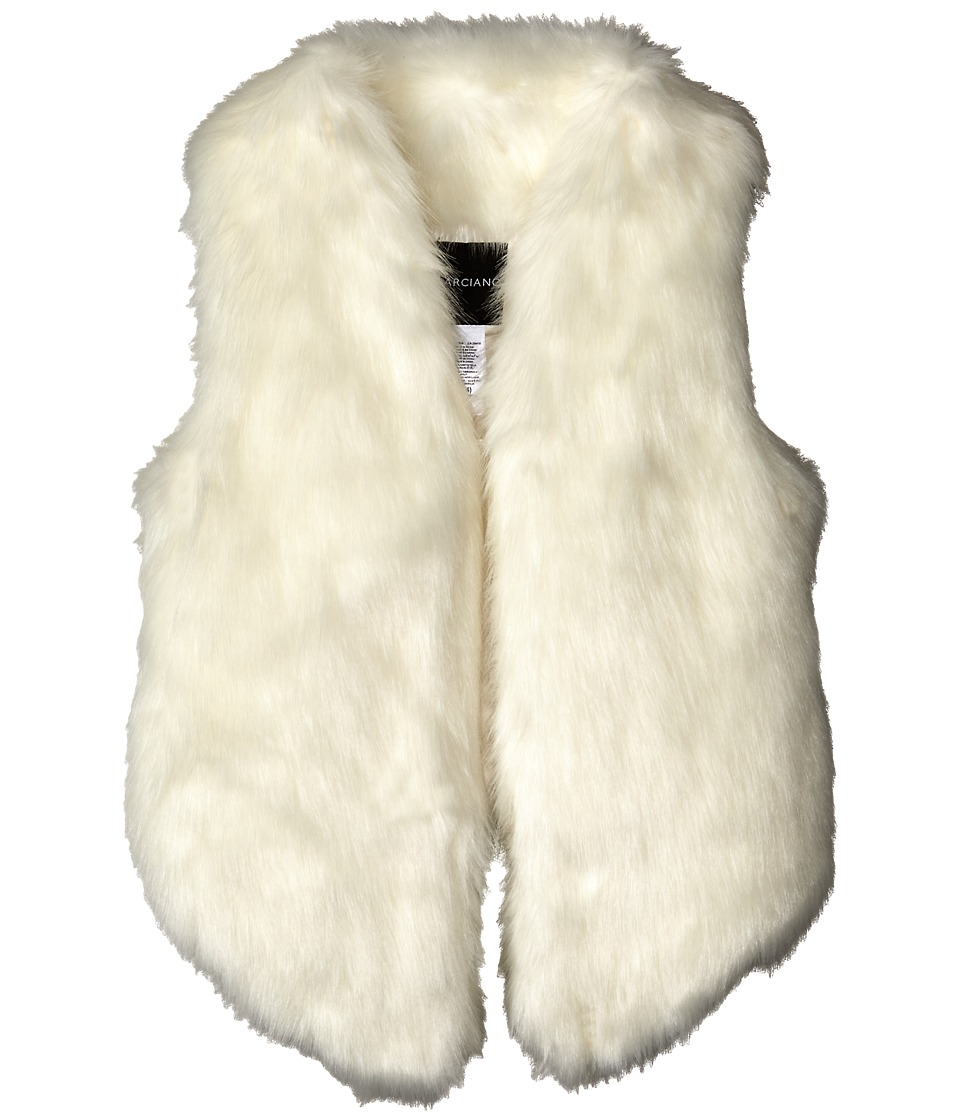 Marciano Kids - Fur Vest (Big Kids) (White) Girl's Vest