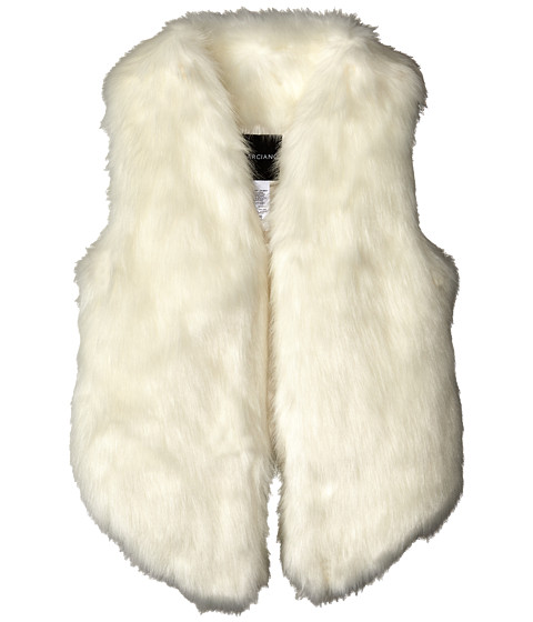 Marciano Kids - Fur Vest (Big Kids) (White) Girl