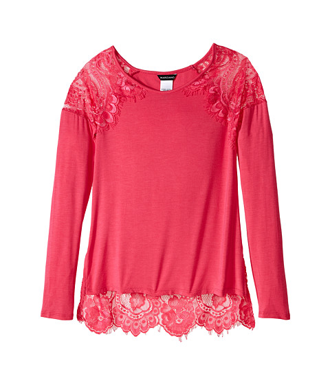 Marciano Kids - Lace Tunic Top (Big Kids) (Pink) Girl's Blouse