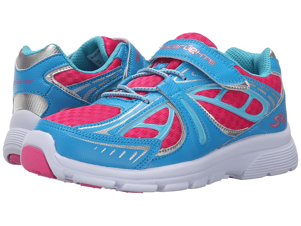 Stride Rite - Racer Lights Evolution (Little Kid) (Blue/Pink) Girls Shoes