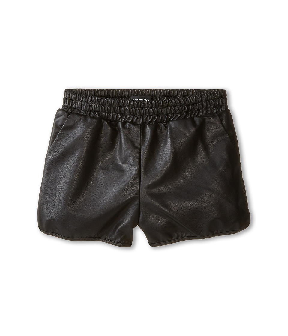 Marciano Kids - Faux Leather Shorts (Big Kids) (Black) Girl's Shorts