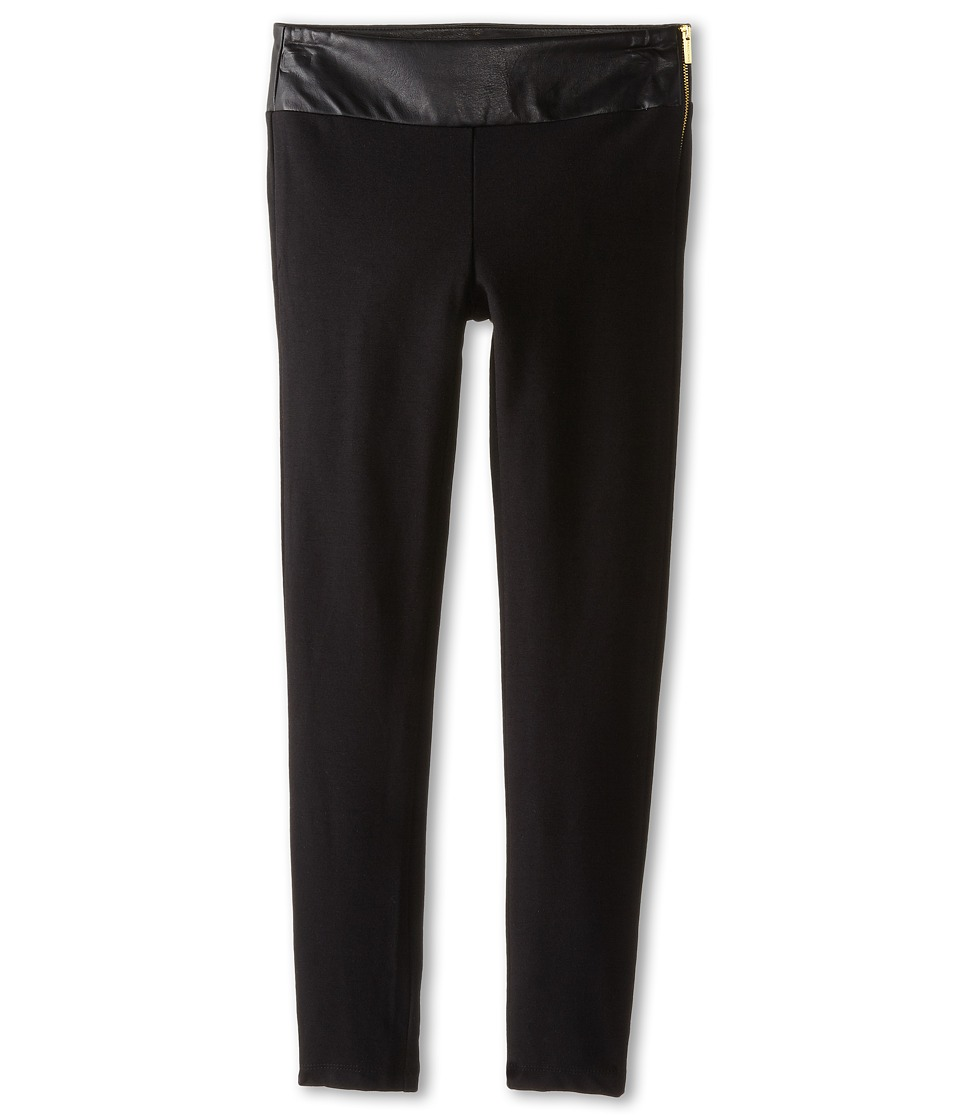 Marciano Kids - High Waist Ponte Pants (Big Kids) (Black) Girl