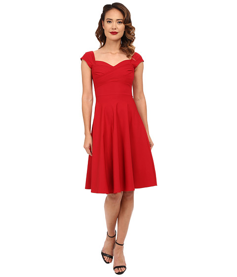 Stop Staring! - Madstyle Classic Swing Skirt Dress (Red) Women's Dress