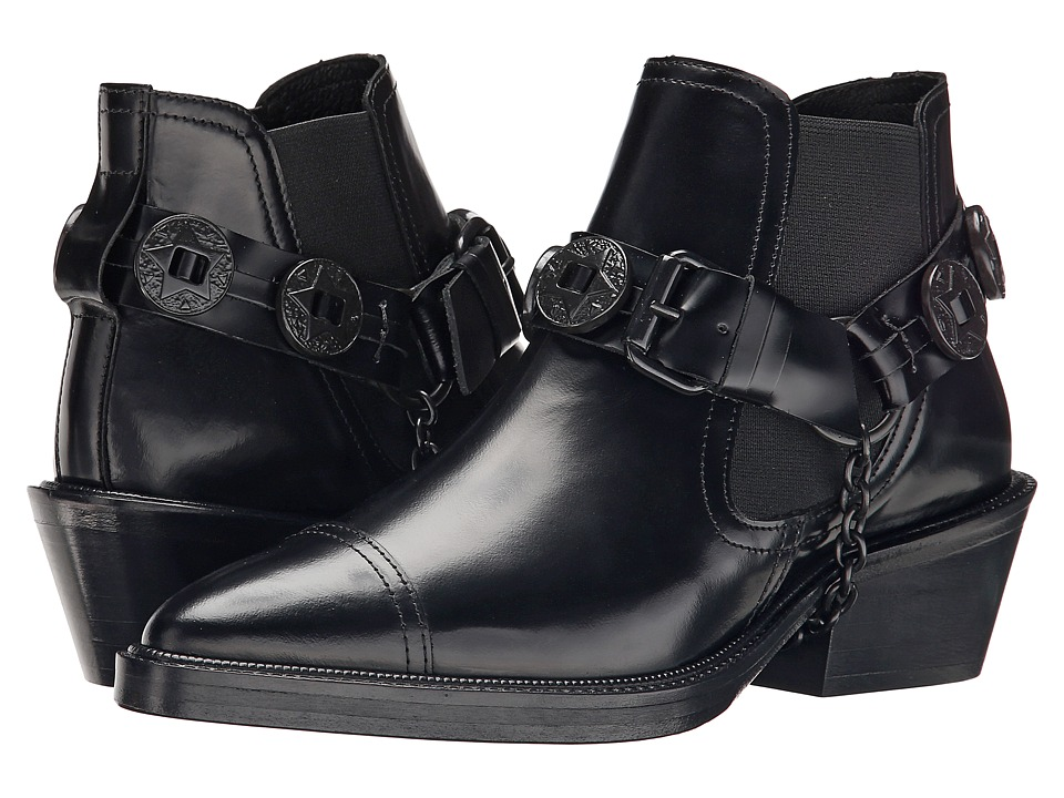 The Kooples - Western Mini Boots (Black) Women