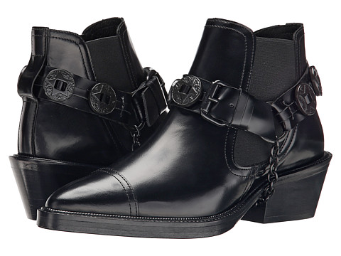 The Kooples - Western Mini Boots (Black) Women's Boots