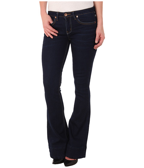 dollhouse - Beckham Five-Pocket Flare Jeans in Dark Blue Wash (Dark Blue Wash) Women