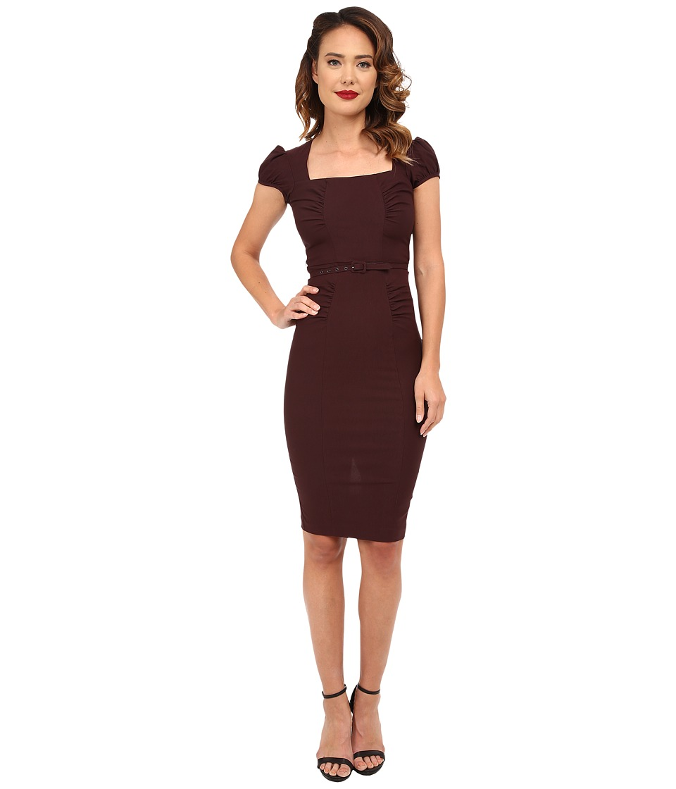 Stop Staring! Lindsey Fitted Dress (Chocolate) Women