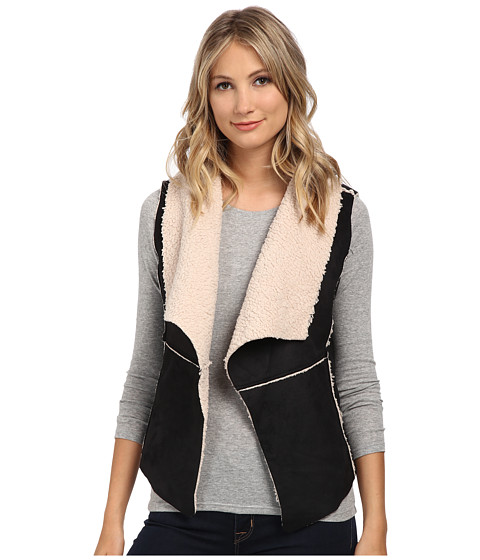 dollhouse - Shearling Vest (Black) Women's Vest