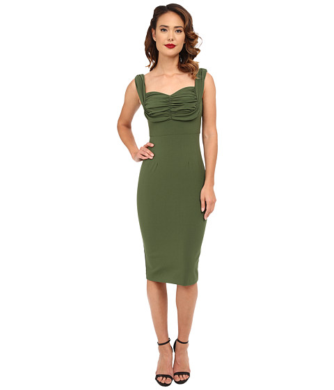 Stop Staring! - Zoe Fitted Dress (Green) Women's Dress