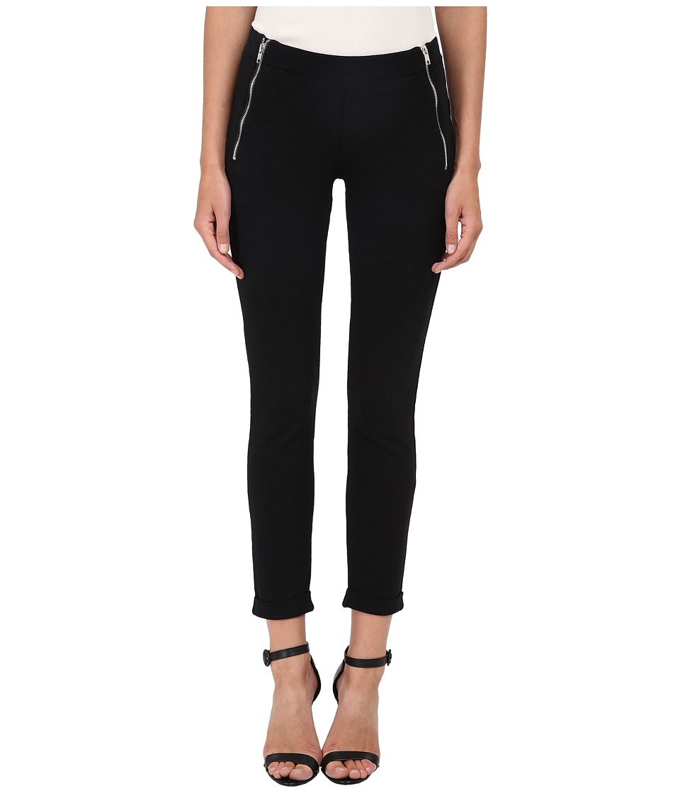 The Kooples - Yoga Jogging Trousers in Slub Fleece (Black) Women