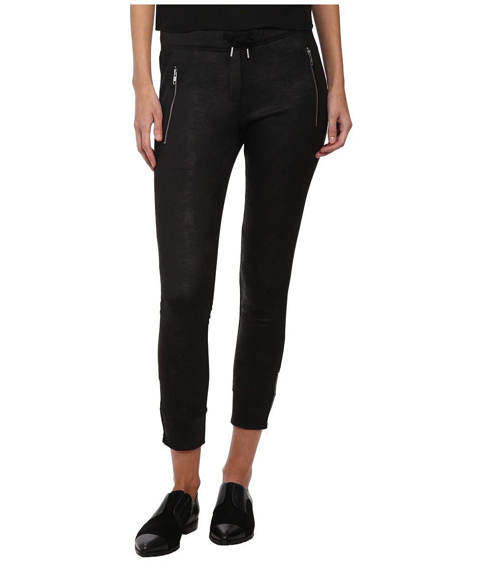 The Kooples - Box Jogging Trousers in Coated Fleece (Black) Women's Casual Pants