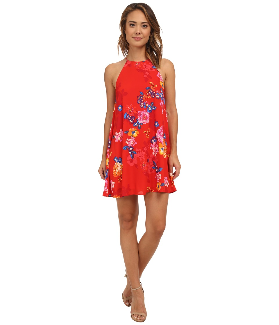 Brigitte Bailey - Floral Shift Dress (Red) Women's Dress