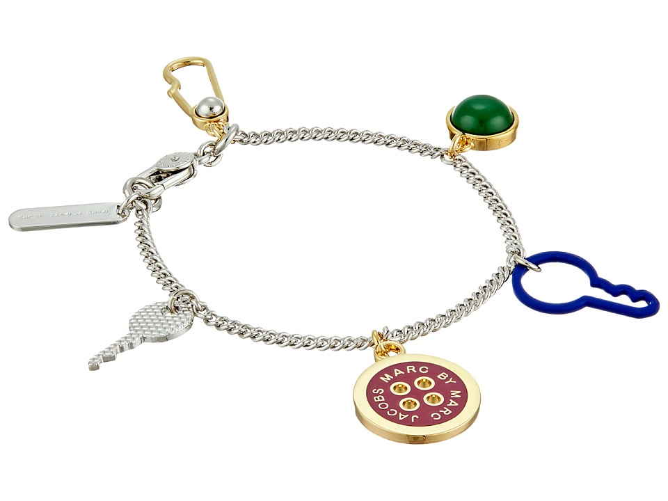 Marc by Marc Jacobs - Lost and Found Keys and Buttons Charm Bracelet (Garnet Multi) Bracelet