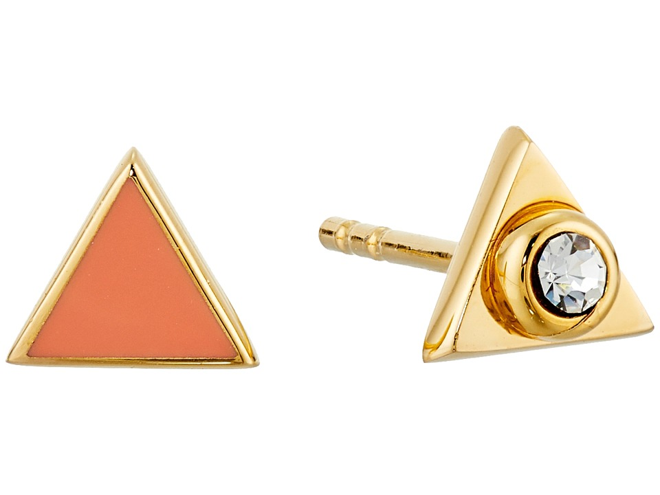 Marc by Marc Jacobs - Lost and Found Triangle Stud Earrings (Coral) Earring