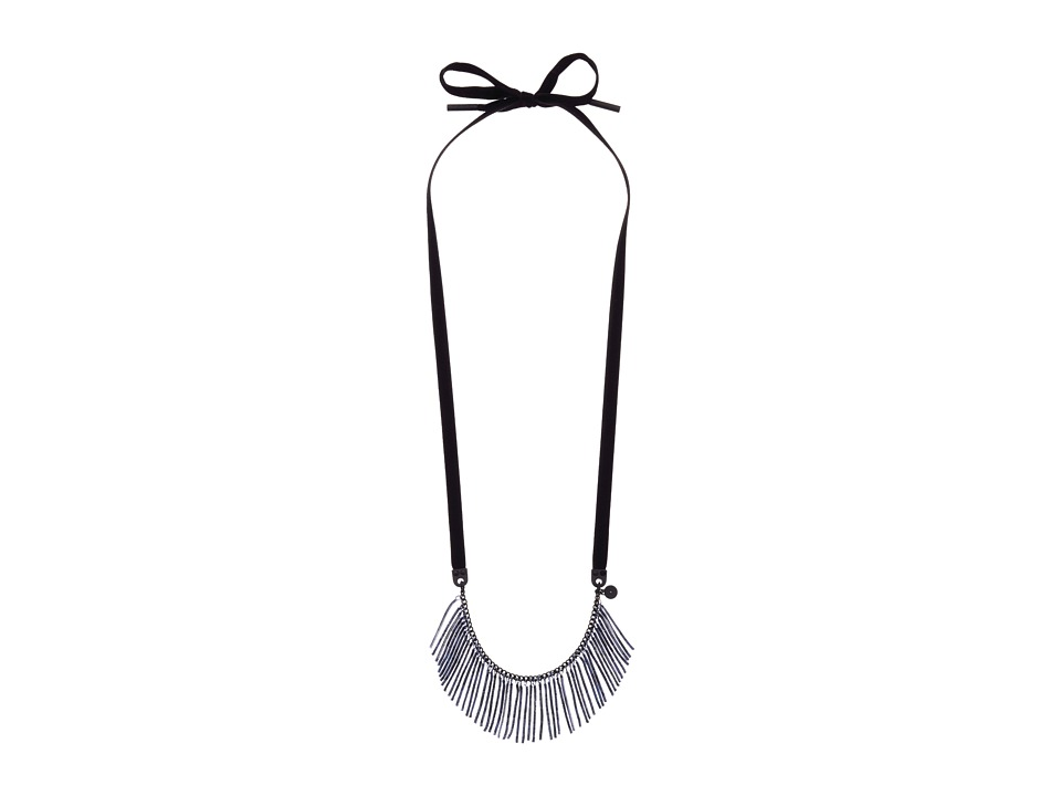 Marc by Marc Jacobs - How Riveting Acanthus Collar Fringe Necklace (Gettysburg Blue Multi) Necklace