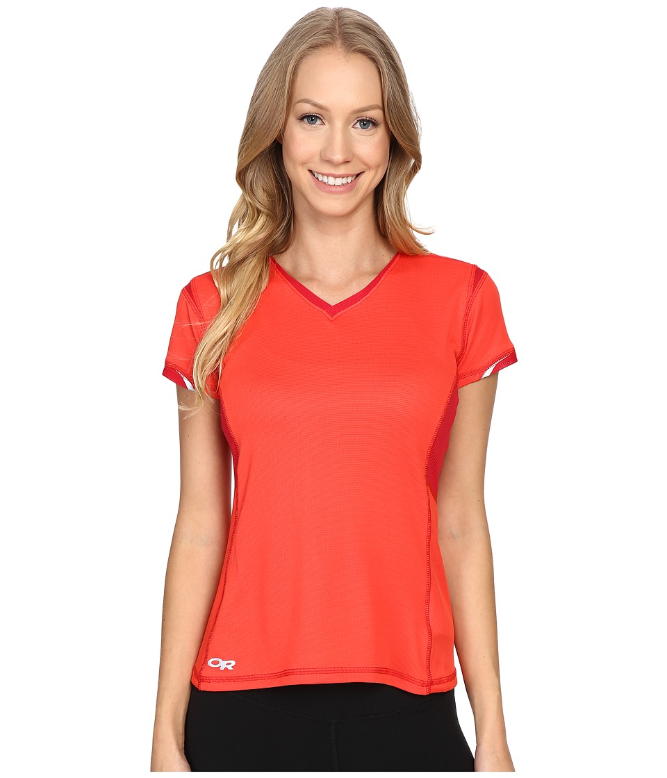Outdoor Research - Octane S/S Tee (Flame/Scarlet) Women's Short Sleeve Pullover
