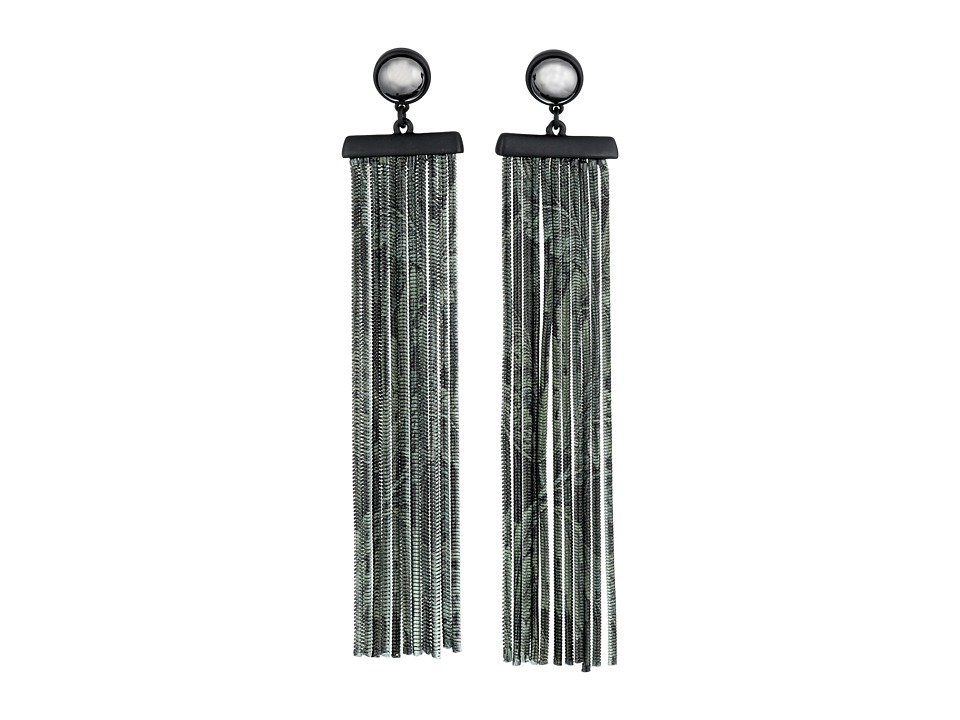 Marc by Marc Jacobs - How Riveting Acanthus Chain Earrings (Elm Brown Multi) Earring