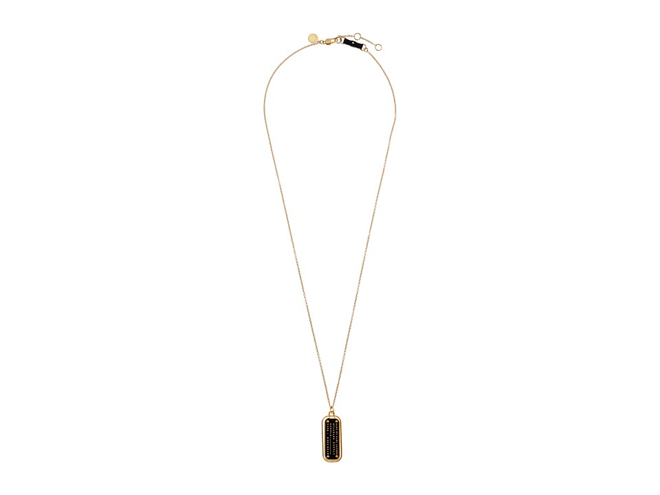 Marc by Marc Jacobs - Standard Supply Enamel Standard Supply Pendant Necklace (Black) Necklace
