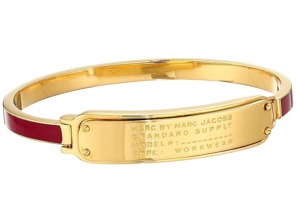 Marc by Marc Jacobs - Standard Supply Stand Supply Enamel Hinge Cuff Bracelet (Garnet) Bracelet