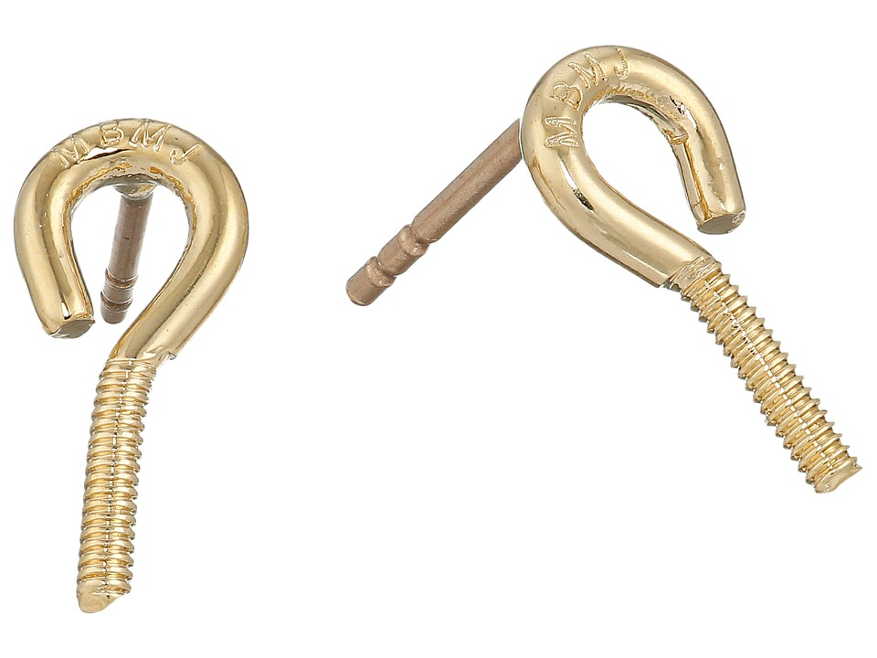 Marc by Marc Jacobs - Screw It Screw Hook Stud Earrings (Oro) Earring