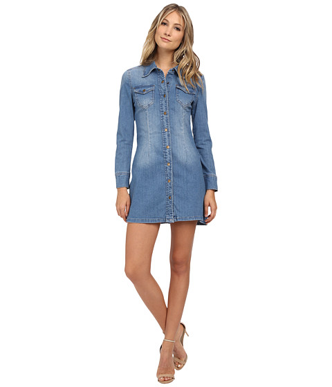dollhouse - Edie Dress (Medium/Light Blue Wash) Women's Dress